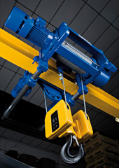 Low headroom hoists